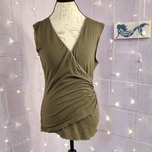 Olive Wrapped Style Tank Top